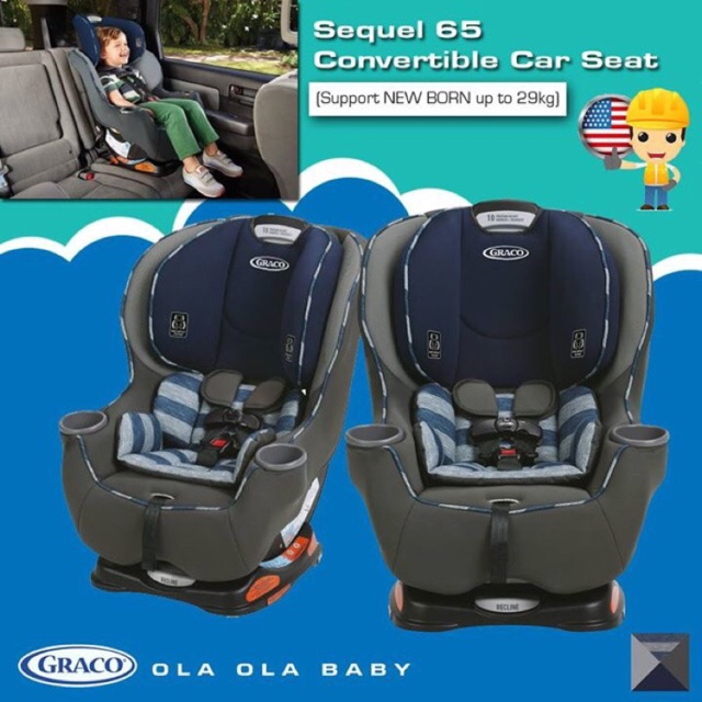 Graco Sequel 65 Convertible Car Seat FREE GIFT