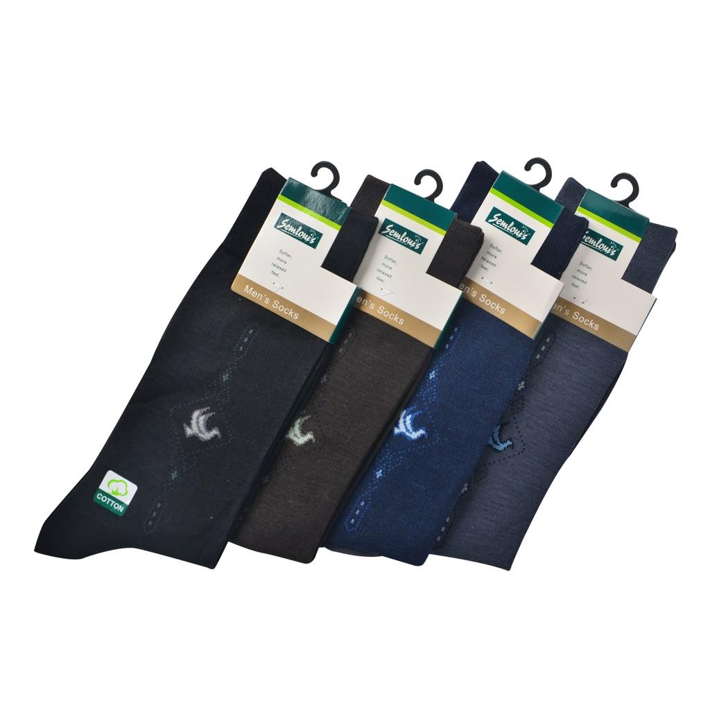 Semlouis Men Quarter Crew Socks - Design 8
