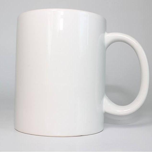4 x White Coffee Mugs Plain Blank 11oz Large Handle Sublimation Mugs with Free Gift Box
