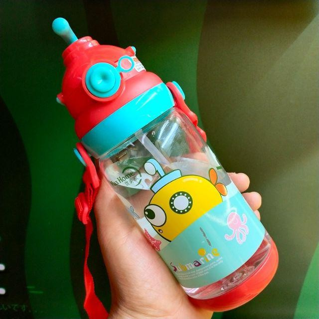 [ READY STOCK ]  620ML Sport Cartoon Water Bottle High Quality Bottle Straw Jualan Murah Kitchen Kid Baby Air Minuman