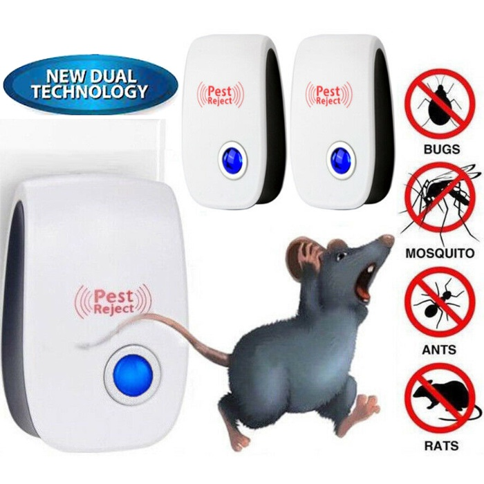NEW - Riddex Pest Reject Electronic Repelling Aid Ultrasonic Anti Pest Mouse Cockroach Mosquito Killer Repeller