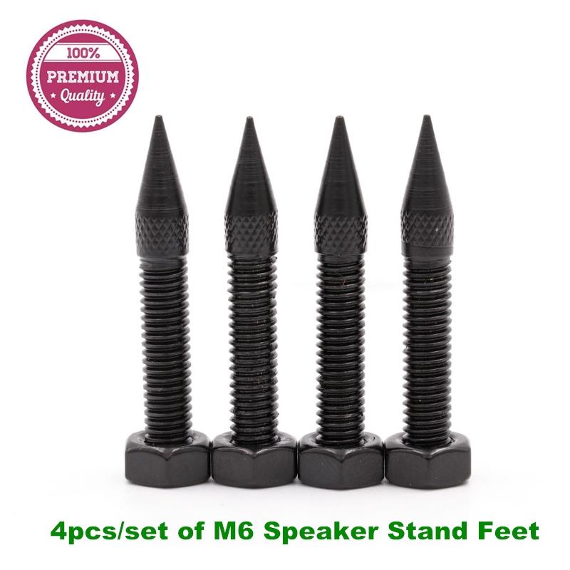 4pcs of 42mm M6 Iron Speaker Spikes Hifi Audio AMP Monitor Isolation Stand  Feet