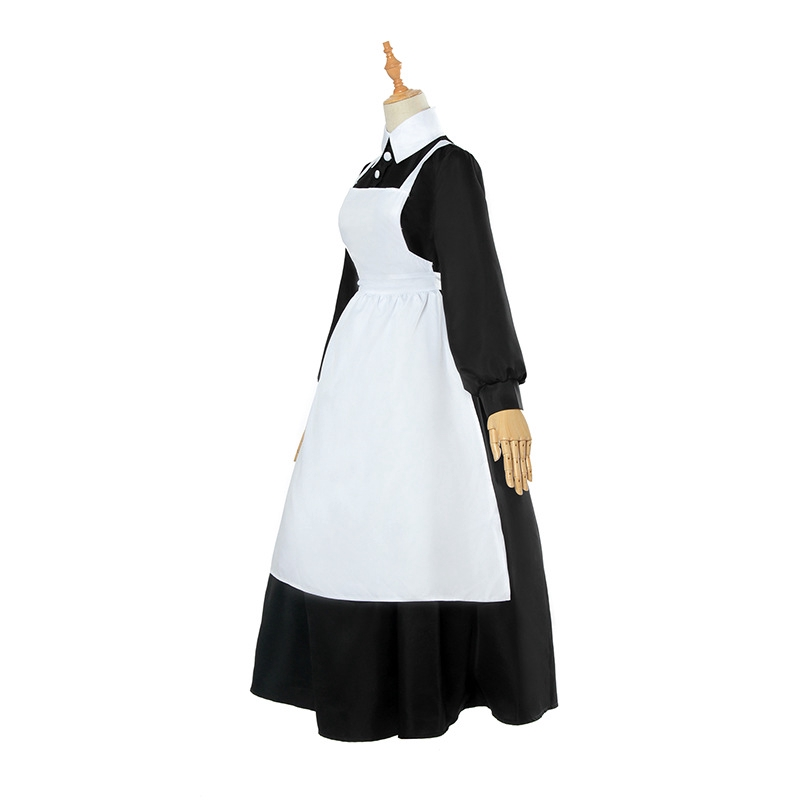 The Promised Neverland Isabella Maid Dress White Apron Fancy Dress Cos Costume