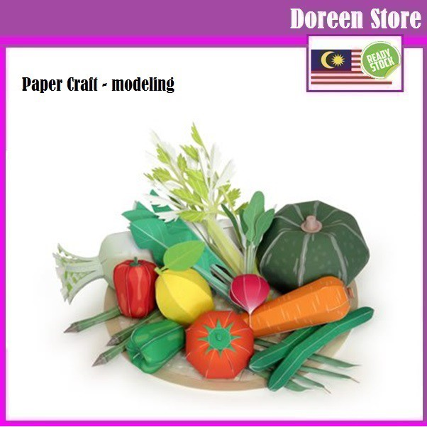 Paper Craft: Vegetables (Paper Model kit)