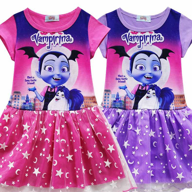 8682b51aba5 Vampirina Dresses For Girls Princess Birthday Party Dress Costume Kids  Clothes