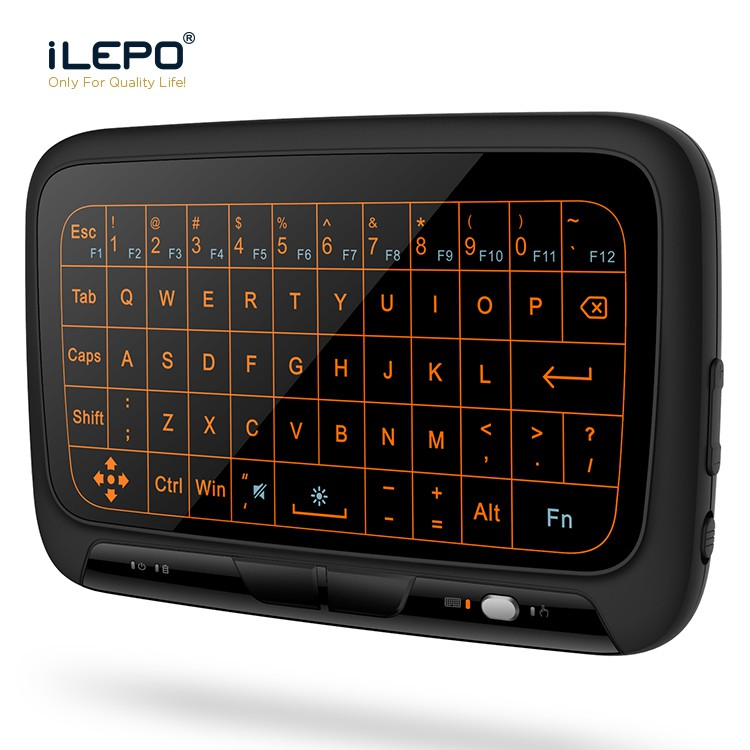 54d4761bfae ProductImage. ProductImage. H18 Wireless Mini Keyboard Backlit Full Touchpad  2.4G Fly Air Mouse UniversaI