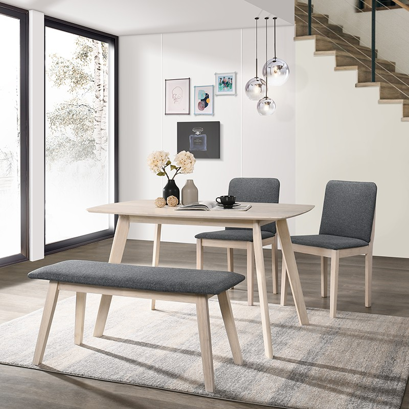 Olive Full Solid Wood Dining Set with Bench/ 6 Seater / 4 Seater/ Dining Set/ Set Meja Makan/ Set Murah/ Meja Makan Kayu