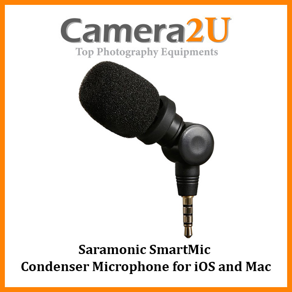 READY STOCK Saramonic SmartMic Condenser Microphone for iOS and Mac (3.5mm Connector)