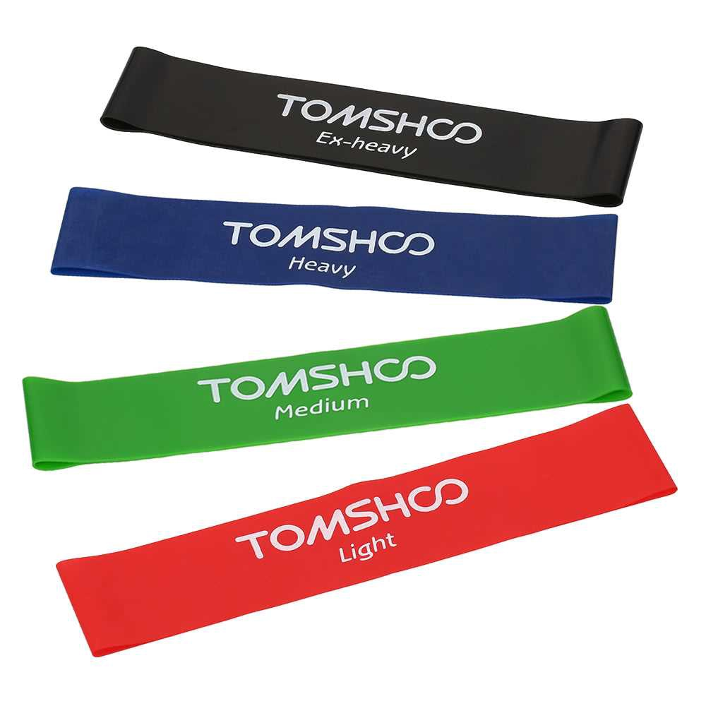 TOMSHOO Exercise Resistance Loop Bands Latex Gym Strength Training Loops Bands Workout Bands Physical Therapy Home Fitn
