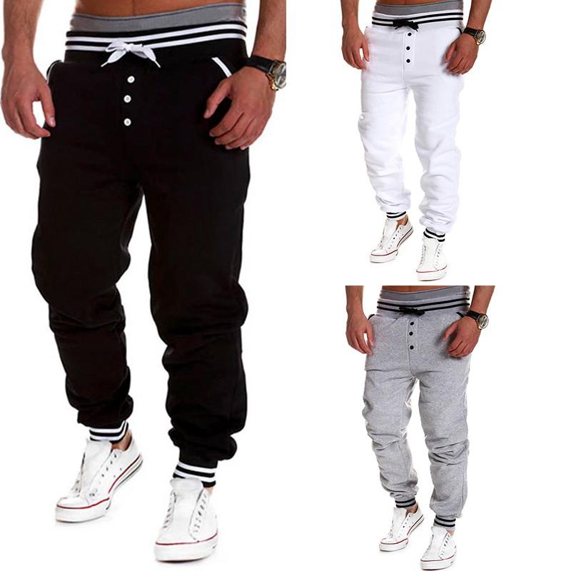 Mens Trousers Jogging Bottom Tracksuit Skinny Gym Zip Joggers Sweat Pants Sports