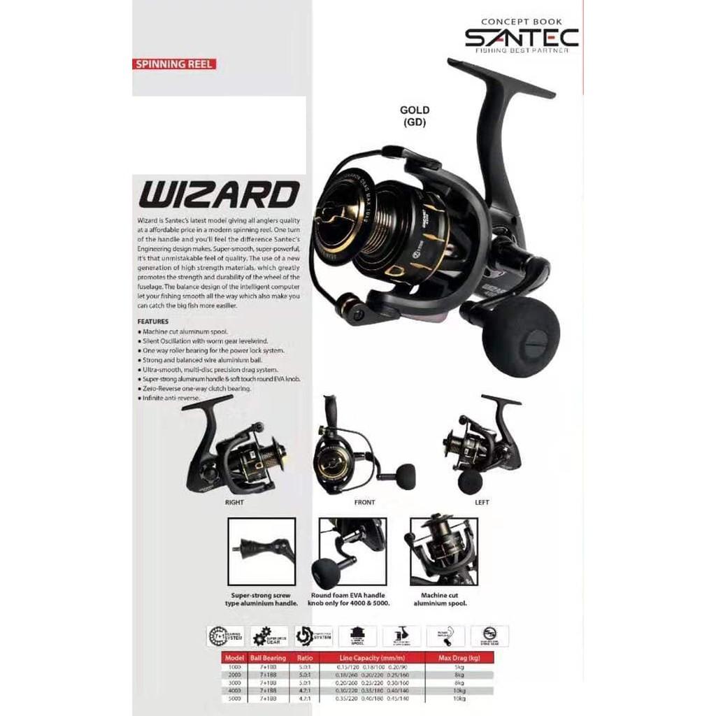 SANTEC WIZARD SP SPINNING REEL 4000