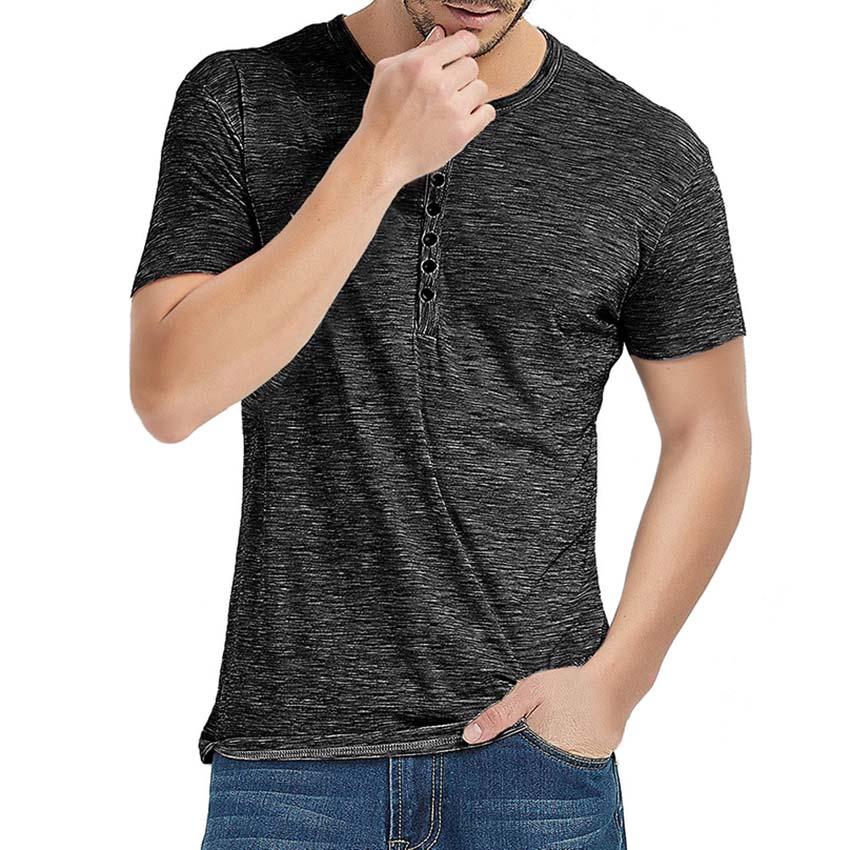 Casual Classic Mens Short Sleeve Tee Adult Slim Fit Plain Crew Neck Tshirt