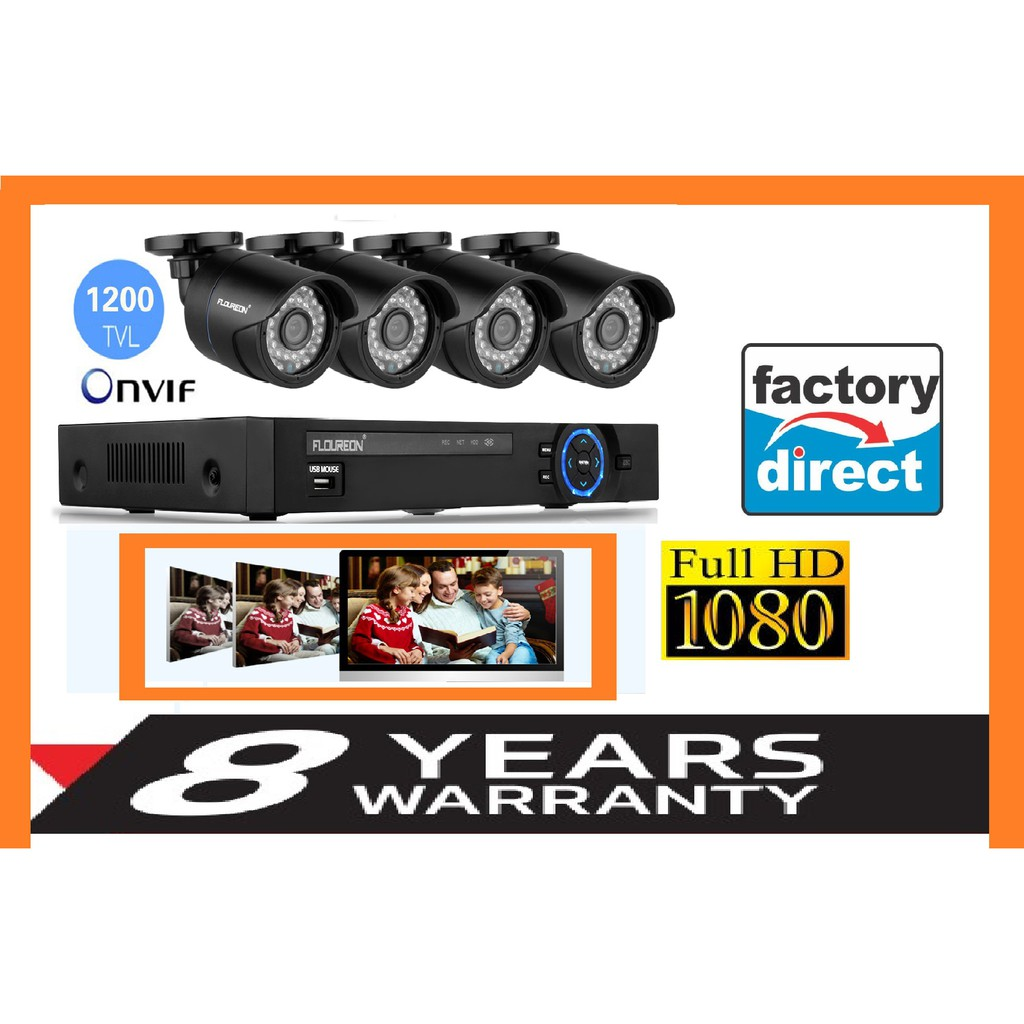 4 Channel FULLHD 1080P CCTV SYSTEM FULLSET ( 8 YEARS WARRANTY )
