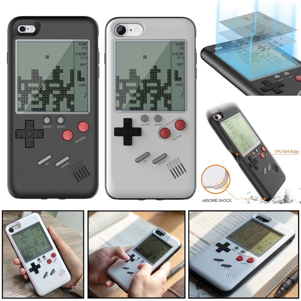 ReadyStock,Creative Retro Games Tetris Tank Battle Game Phone Case for  iPhone X