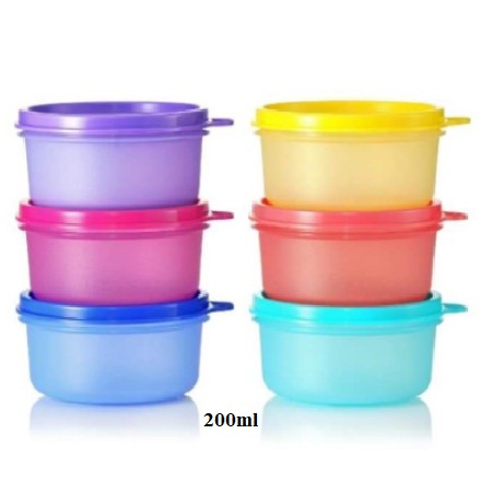 Tupperware : Small Round Container 200ml (6pcs)