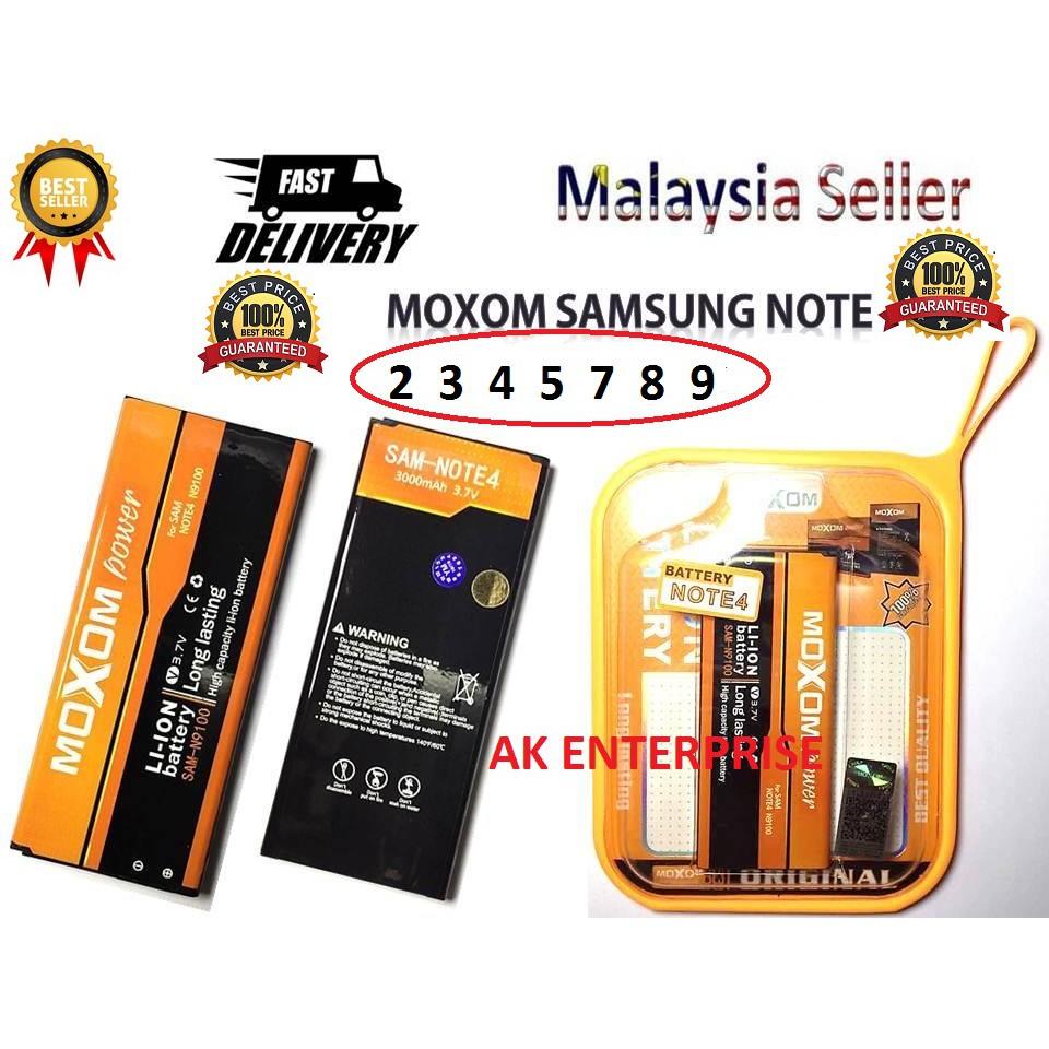 100% ORIGINAL Samsung Galaxy Note 2/3/4/5 Moxom Battery Heavy Duty High Quality