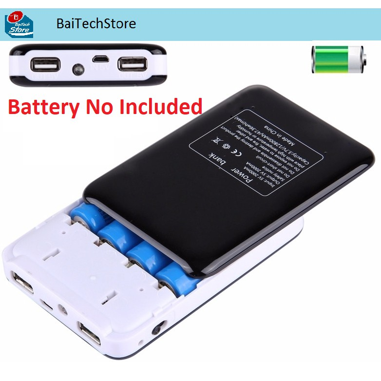 Dedicated Tomo S4 Diy Smart Power Bank Charger Battery Charger 4 X 18650 Li-ion Battery Type-c Micro Usb 8 Pin Input Dual Output Charger 100% Original Accessories & Parts