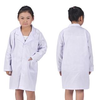 Child Kid White Lab Coat Doctor Scientist School Halloween Party Dress Costume