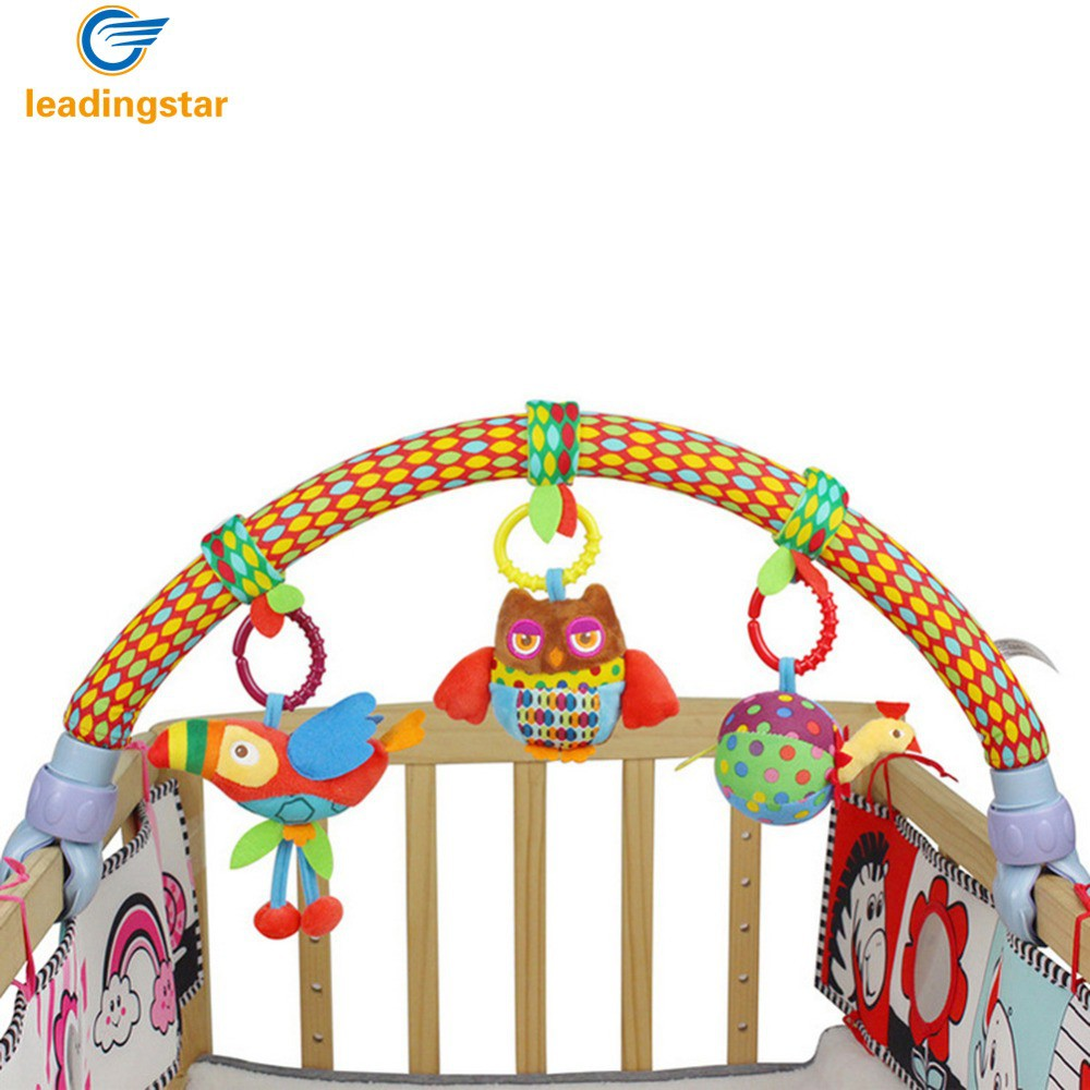 Mylilangelz Cute Forest Cloth Animal Birds Toys Baby Travel Play Arch Activity Bar for Stroller Pram Crib (READY STOCK)
