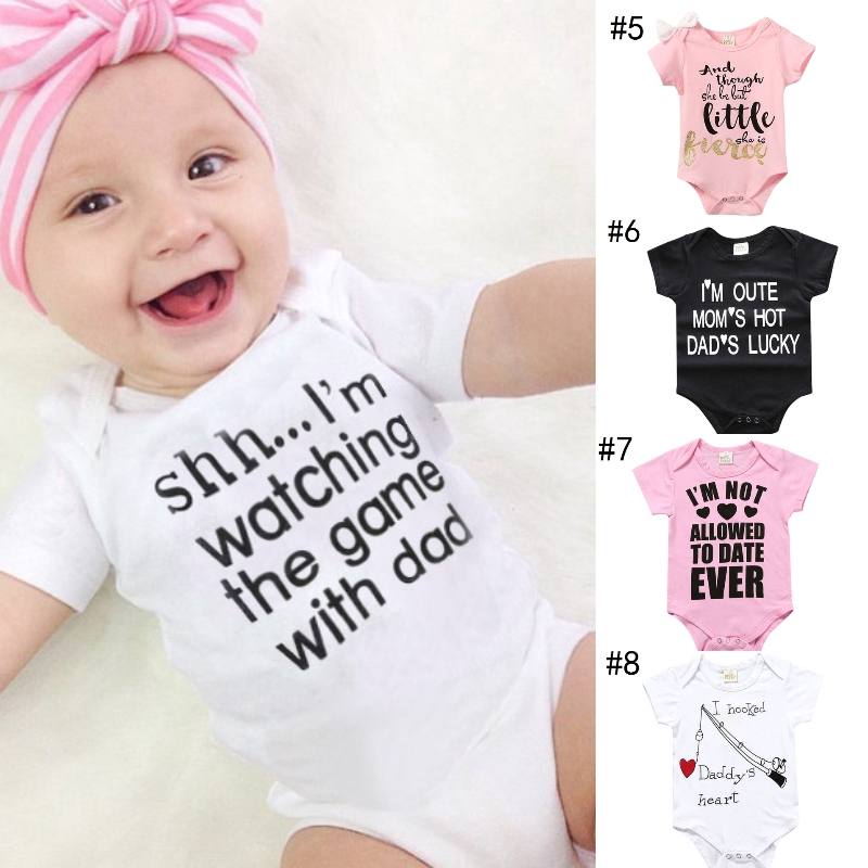 Tails Head White Baby Pajamas Bodysuits Clothes Onesies Jumpsuits Outfits Pink