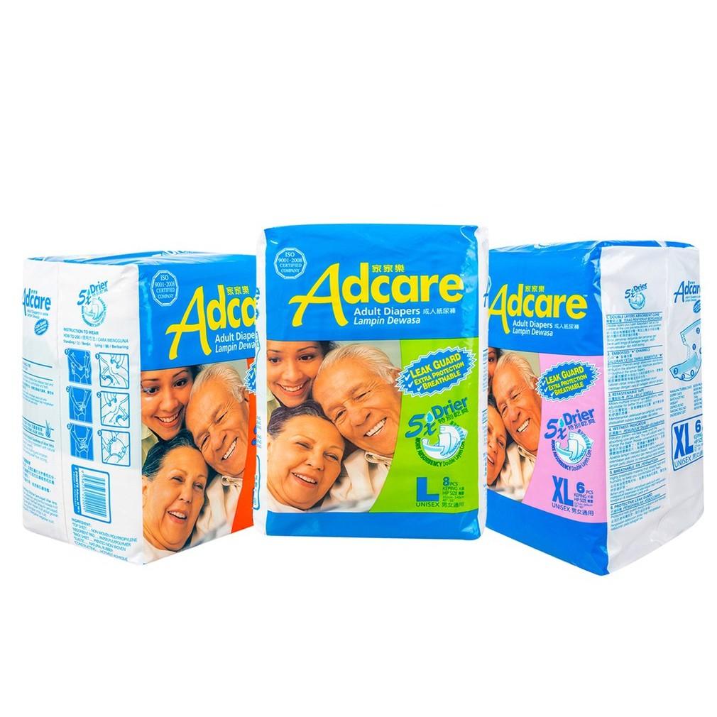 ADCARE ADULT LEAK GUARD DIAPERS M / L / XL