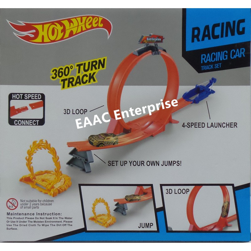 Hot Wheels Alike 360 degree Speed Powerful Spin Way Track With 1 Race Car