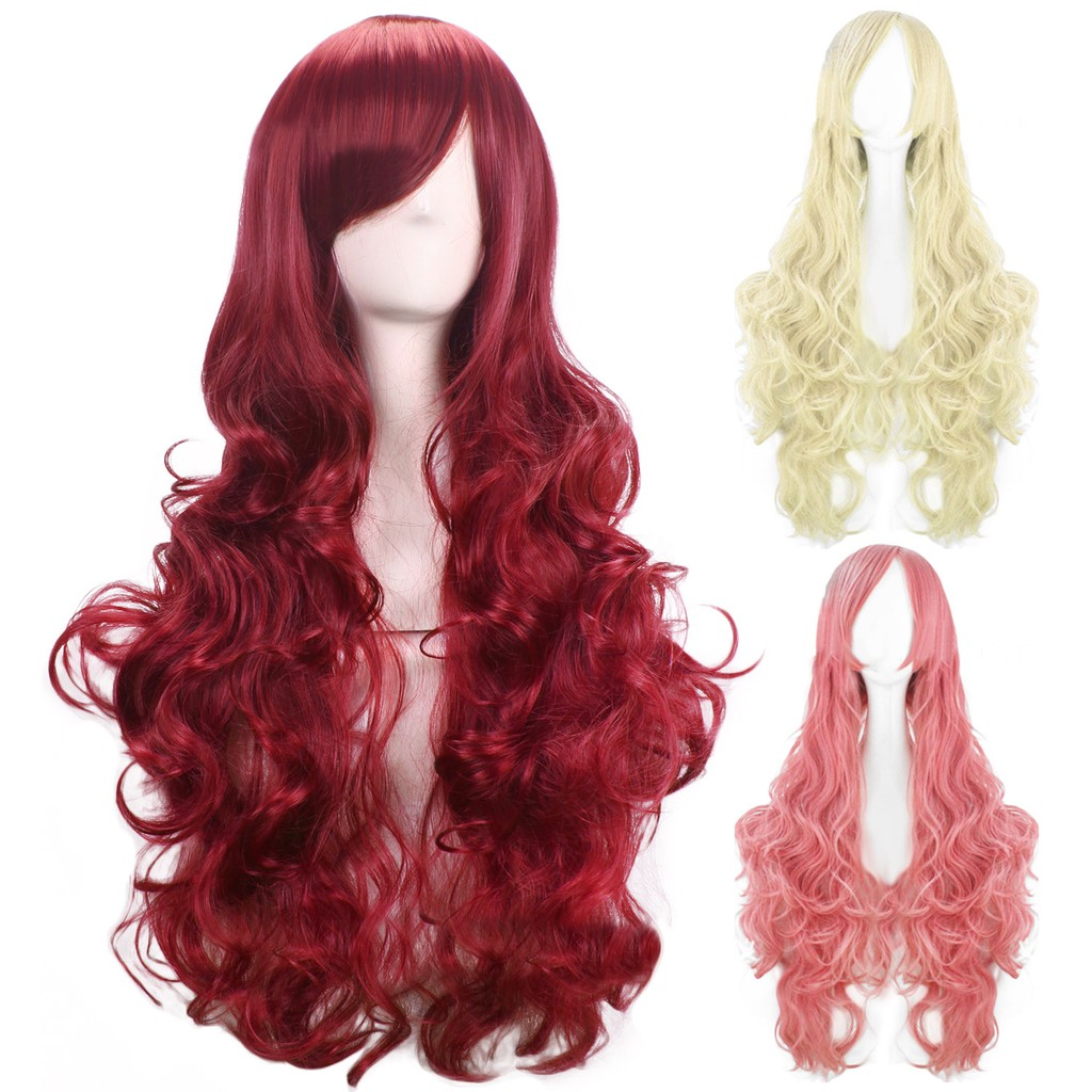80 cm Colorful Cosplay Long Straight Hair Extensions Wig for Masquerade Party Halloween Christmas | Shopee Malaysia
