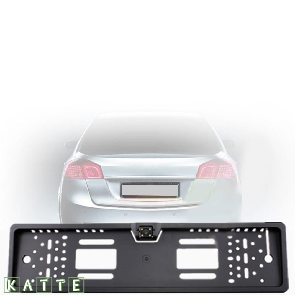Car License Plate Frame Rearview Reverse Backup Camera Waterproof Night Vision