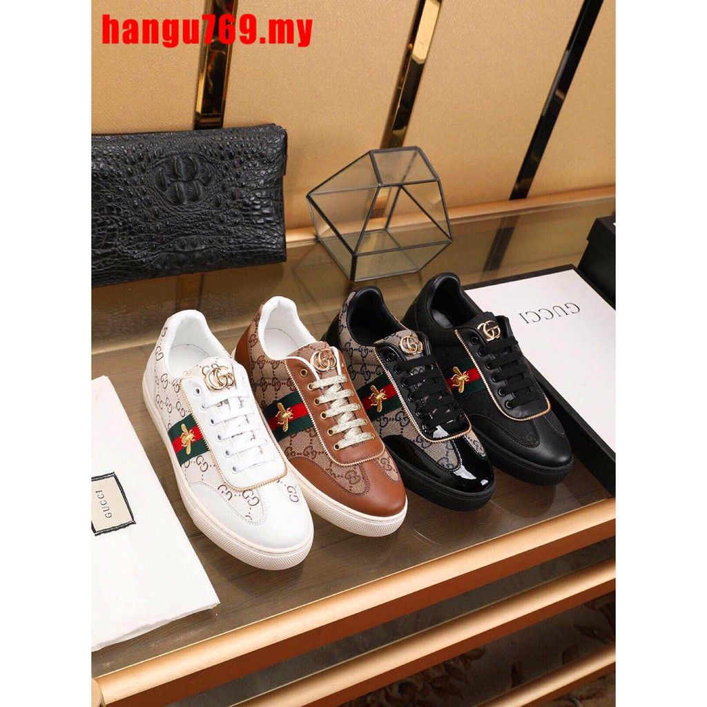 096499c7 ✔ Original GUCCI BRAND ✔ 2019 New Fashion Gucci shoes Low Tops Sneakers  GUCCI Casual shoes Leather shoes