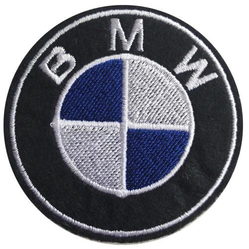 อาร์มรีดติดเสื้อผ้า ปักลาย BMW ตัวรีดติดผ้า ปักลาย BMW แผ่นรีดติดผ้า ปักลาย BMW งานปัก รีดลาย BMW อาร์มรีดปักลา