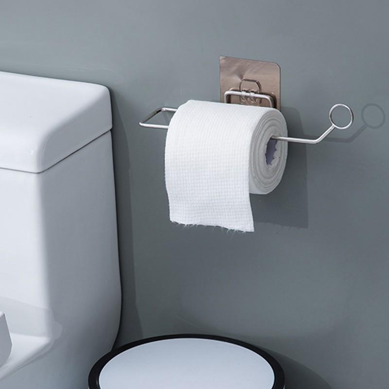 6pcs Wall Mount Bathroom Toilet Accessory Set Towel Rack Toothbrush Paper Holder