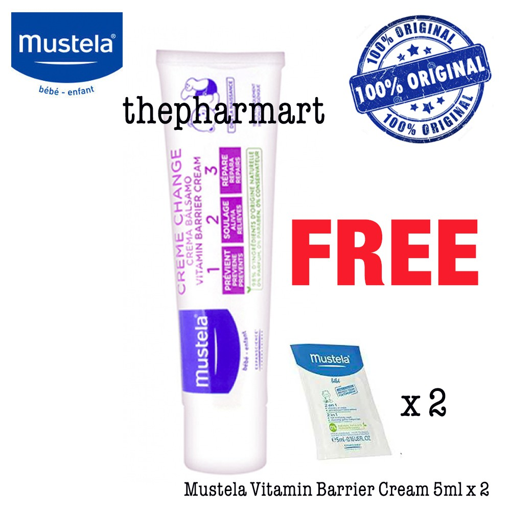 Mustela Vitamin Barrier Cream 123 50ml 100ml