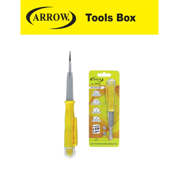 ARROW A82000 LED SPARK DETECTING SCREWDRIVER EASY USE SAFETY GOOD QUALITY