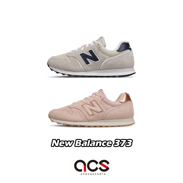 Costa Complejo Antorchas  New Balance 373 Men's Shoes Women's Shoes Casual Wear Wild Retro Basic  Sneakers Suede Grey Pink Optional New Balance | Shopee Malaysia