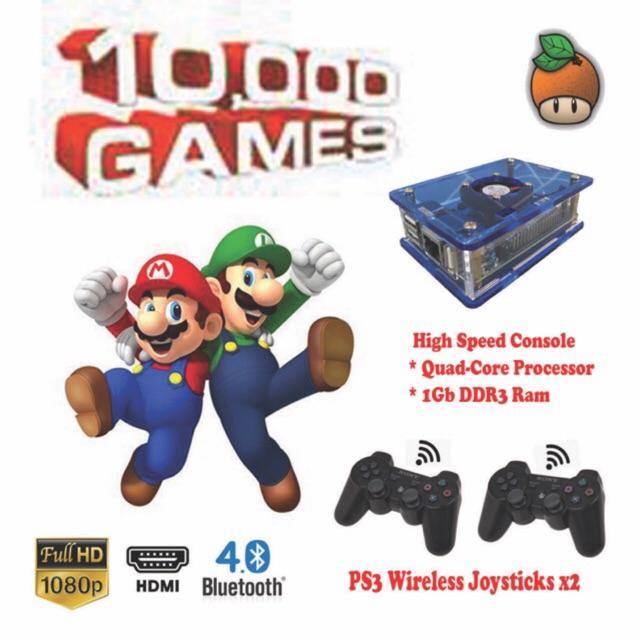 RETRO GAME BOX (Low Price Gurantee) PS3 Wireless Controller 10,000+ in 1  Console
