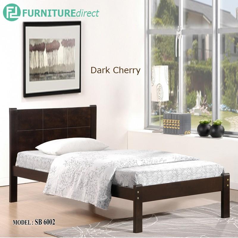 Furniture Direct SB6002 wooden single bed frame/ katil kayu/ katil single
