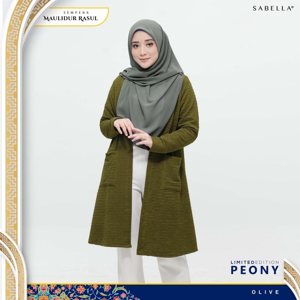 Sabella Peony Cardigan Limited Edition ( Kain Kedut) (Ready Stock)