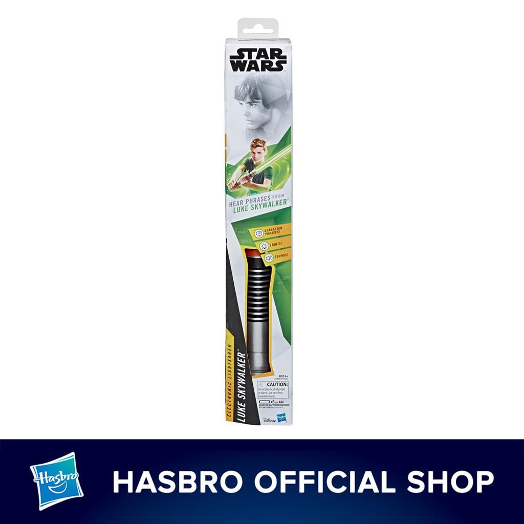 Hasbro Star Wars Luke Skywalker Electronic Green Lightsaber Toy Shopee Malaysia