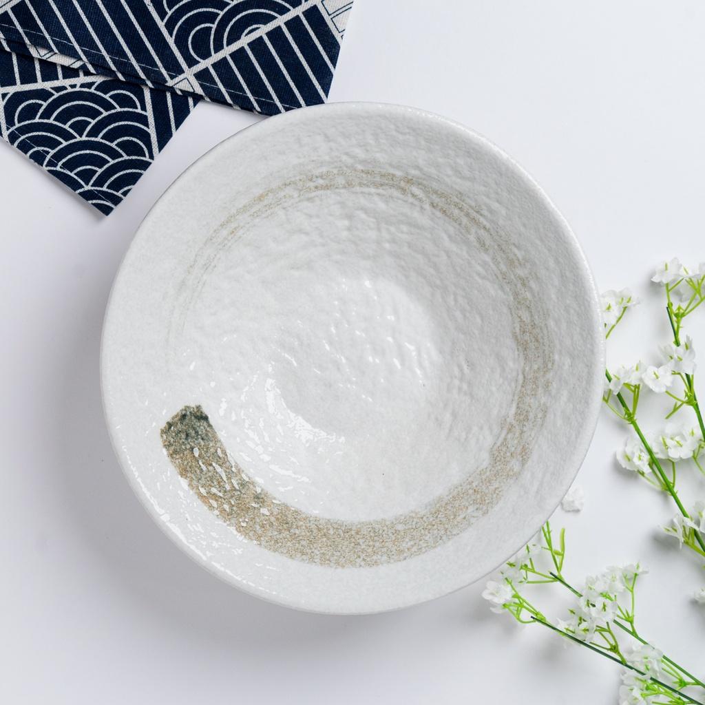 Kurashikku 24cm Huge Size Ramen Bowl Japanese Vintage Art Ceramic Ramen Bowl Soup Bowl Mungkuk Ramen Corak 日式古典风陶瓷碗