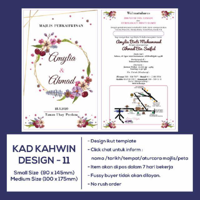 Kad Kahwin Floral Design Shopee Malaysia
