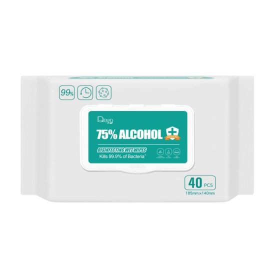 DEYO 75% ALCOHOL DISINFECTING WET WIPES MEDICAL GRADE 40pcs 185mmx140mm (alcohol wet tissue)