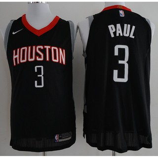 low priced 471e4 65805 NIKE NBA Houston Rockets Chris Paul #3 black basketball ...