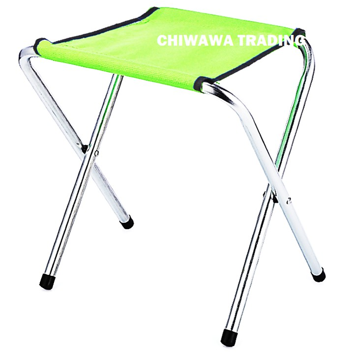 Aluminium Foldable Oxford Picnic Chair Seat Camping Fishing BBQ Outdoor Stool / Kerusi