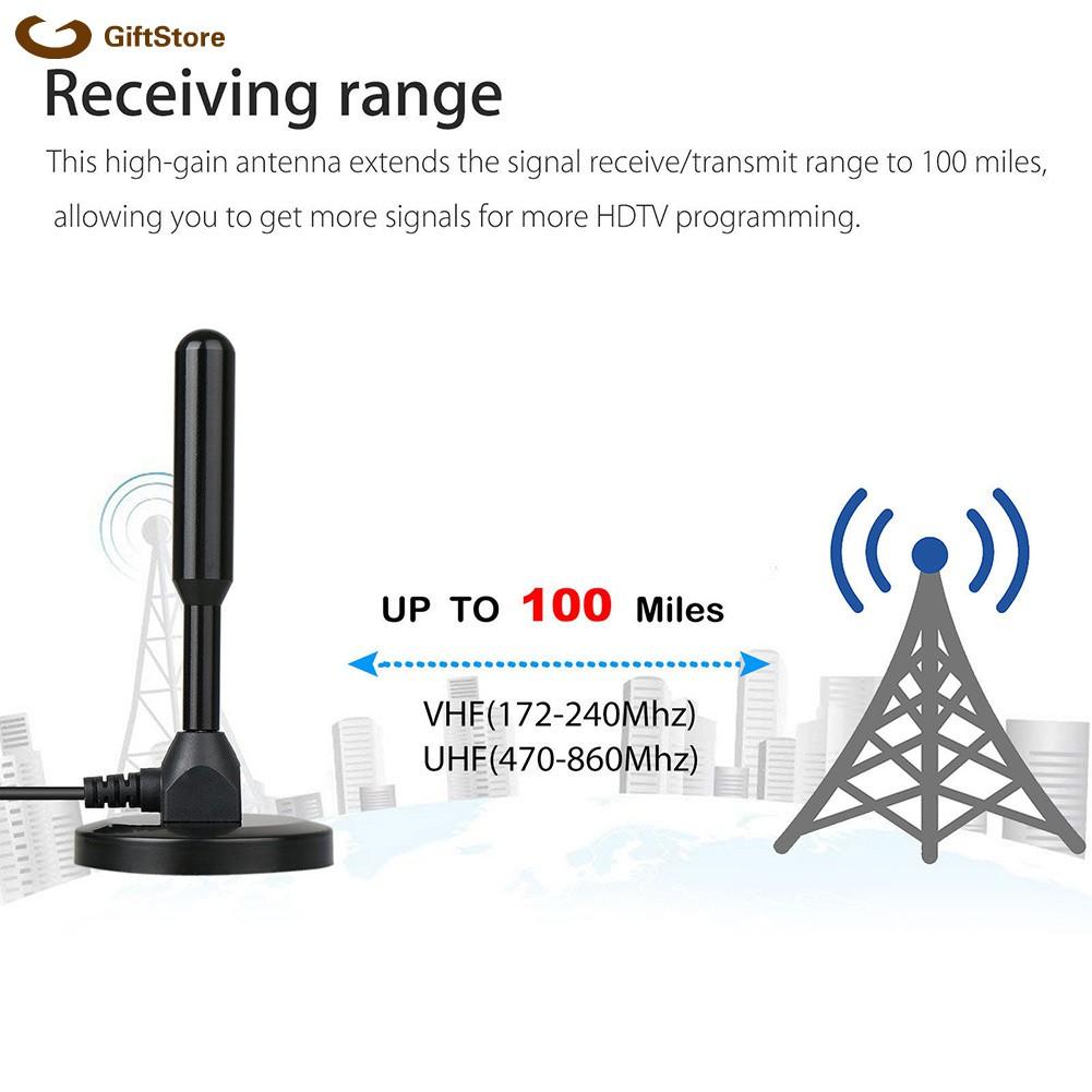 DVB-T2 Digital TV Antenna 100 Mile 25dBi Indoor Gain HDTV