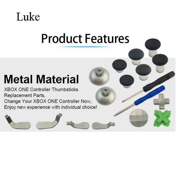 17PCS Replacement Parts Kit with Thumbsticks D-Pads Bases for PS4 L799 Luke