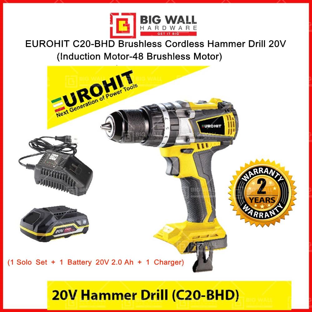 EUROHIT C20-BHD Brushless Cordless Hammer Drill 20V Big Wall Hardware