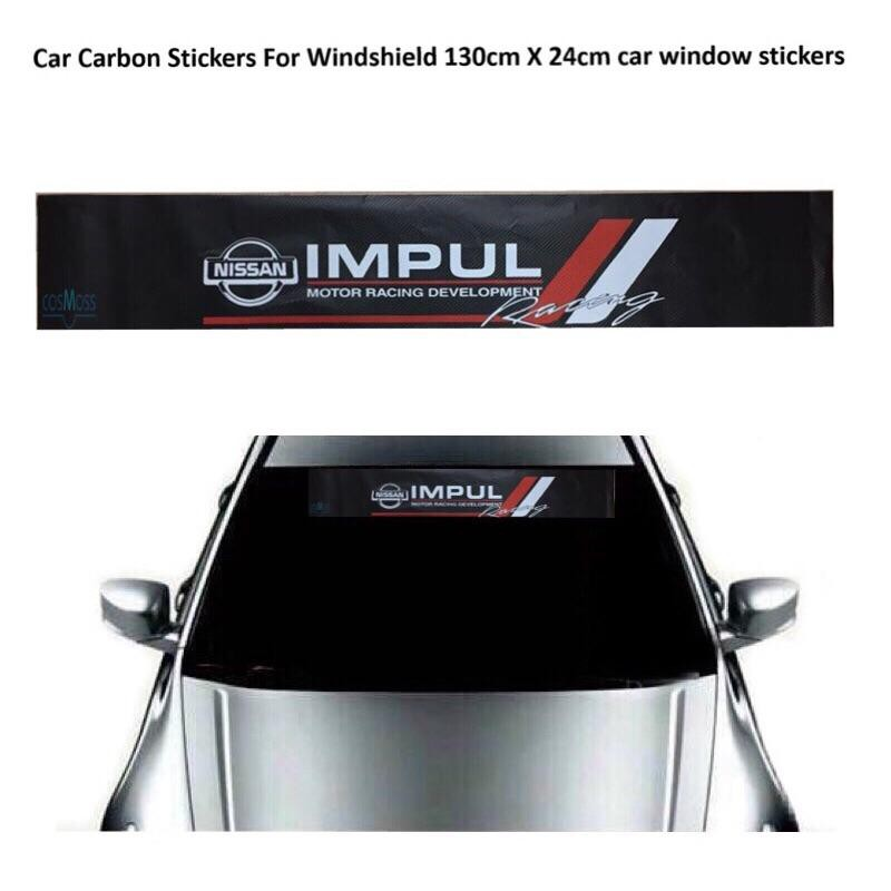 Car Front Windshield Window Banner Decal Glass Lucency Vinyl Sticker for SUBARU