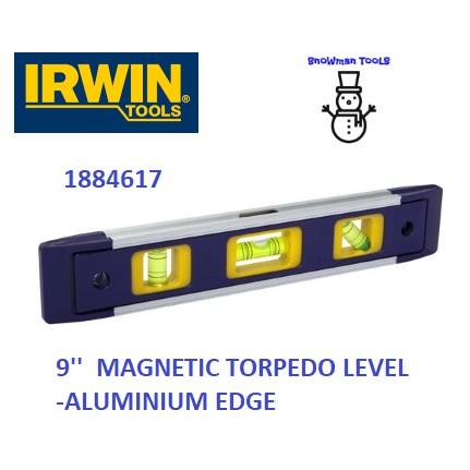 """IRWIN MAGNETIC TORPEDO LEVELS 9"""" 225MM PLASTIC MATERIALS / ALUMINIUM EDGE MEASUREMENT CENTER LEVEL 1884617 1884618 TOOL"""