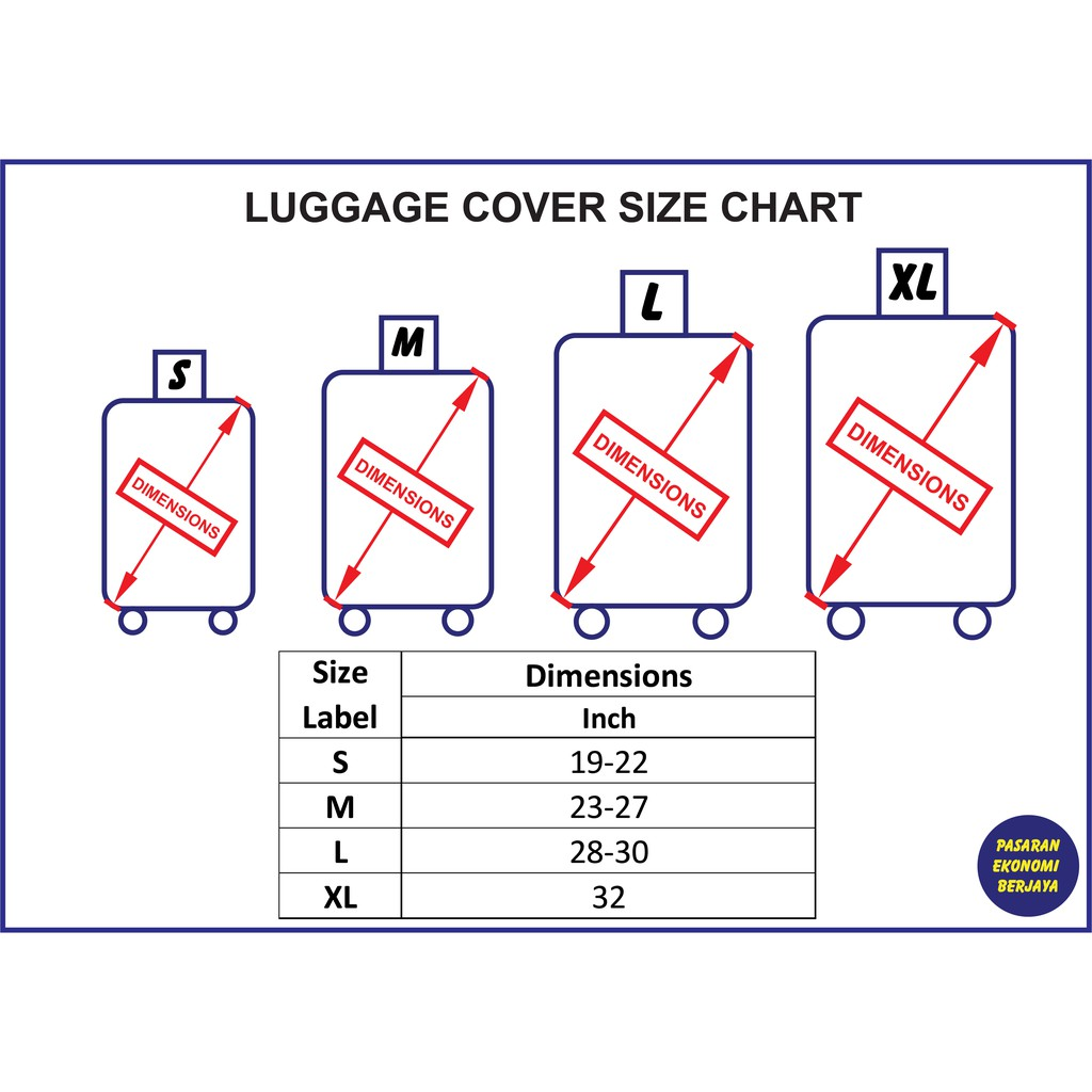 THICKENED LUGGAGE COVER 250-009/ SARUNG BEG BAGASI TEBAL/ 行李箱保护套/ லக்கேஜ் கவர்/ LUGGAGE PROTECTOR/ PROTECTOR BAGASI