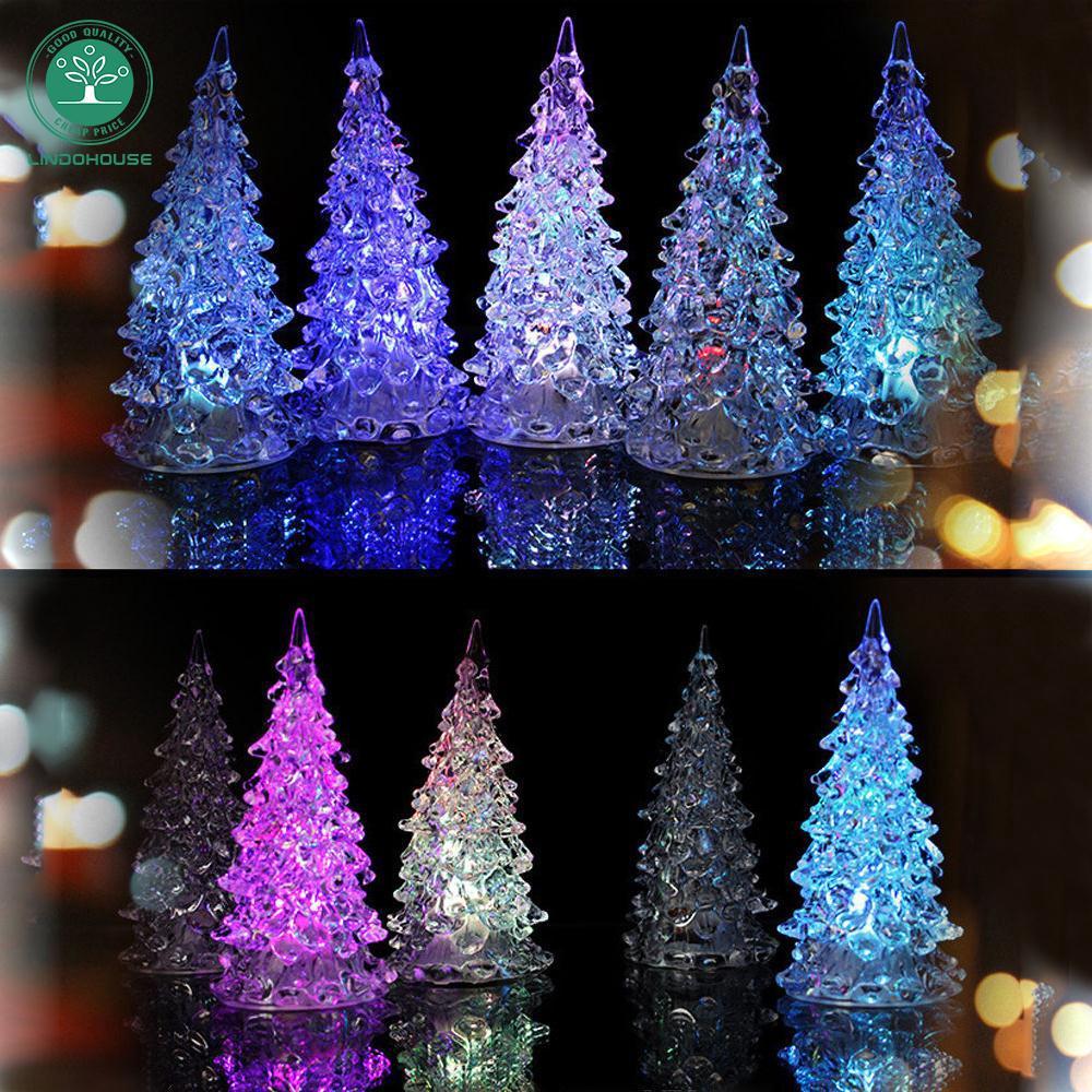 Color Changing Christmas Lights.New Crystal Color Changing Christmas Tree Led Table Lamp Decor Xmas Gift